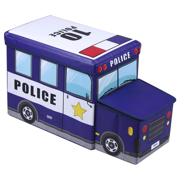 Sitzhocker POLIZEI in blau mit Stauraum