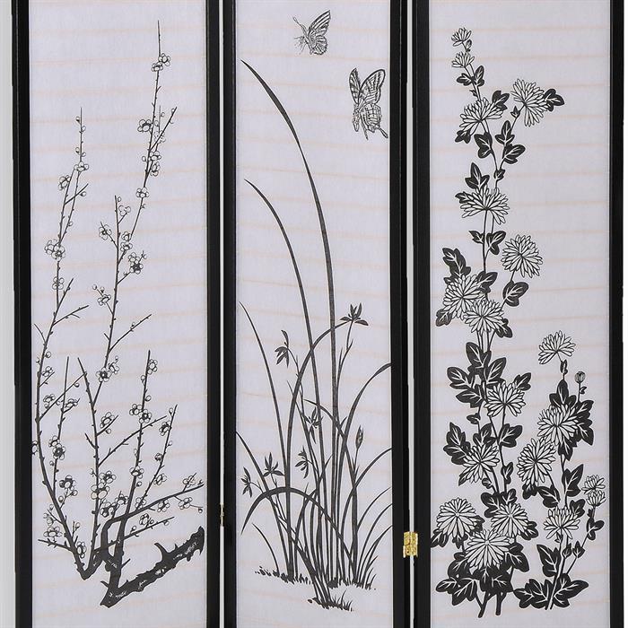 paravent spanische wand raumteiler schwarz mobilia24. Black Bedroom Furniture Sets. Home Design Ideas