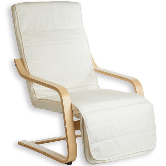 Fauteuil avec repose pieds int gr kessi beige mobilia24 - Canape avec repose pied integre ...