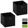 Stoffbox BELLA im 2er Pack, faltbar in 4 Farben